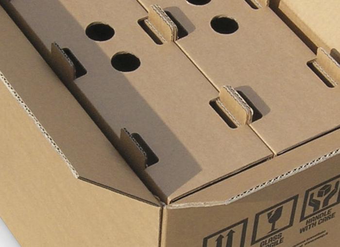 scatola cartone omologata per spedizioni da 6 bottiglie