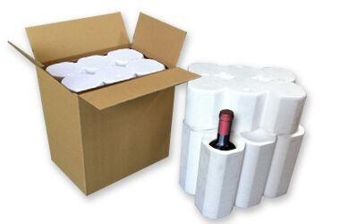 scatole polisterolo per bottiglie